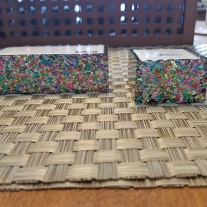 Other - Glitter Confetti - Card Holder & Ring Dish Set